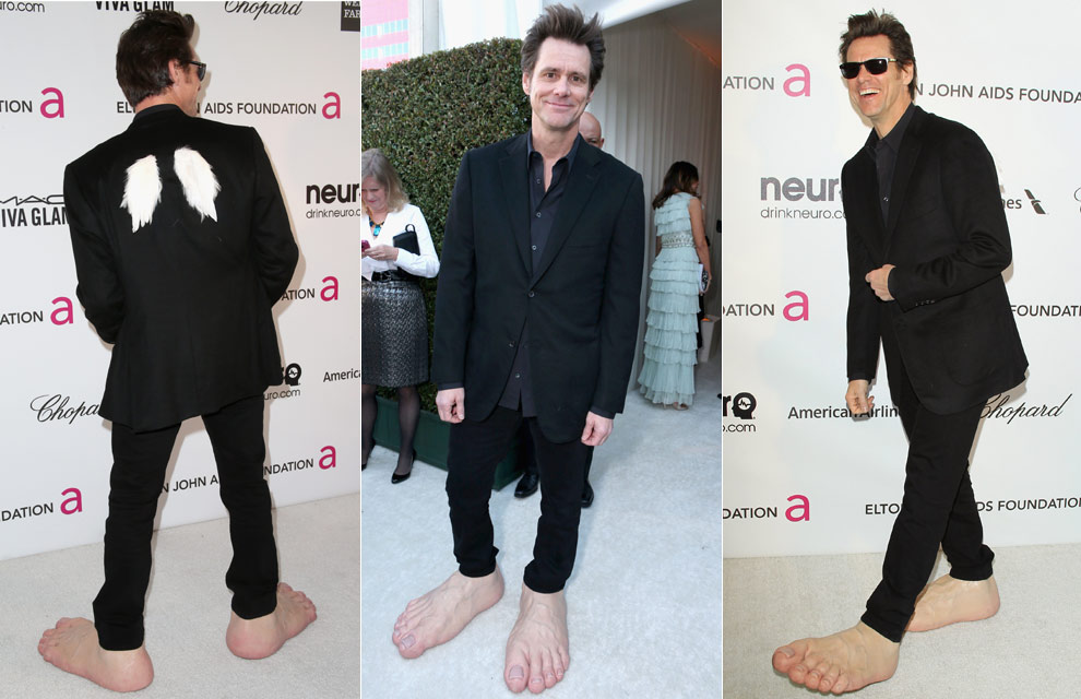 Jim Carrey Oscar 2013 NYC Podiatry Ce...